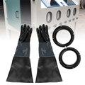 1 paar Durable PVC Gummi Sandstrahlen Handschuhe 60cm Heavy Duty Arbeits Schutz Sandstrahler Handschuhe für Sandstrahlen Maschine Schrank-in Elektrowerkzeuge Zubehör aus Werkzeug bei