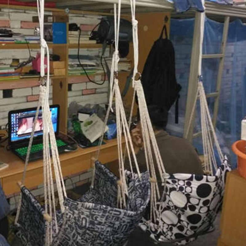 SEMPRE Eu Atualização Pátio Quarto Do Dormitório Da Varanda Árvore Pendurado Assento Da Cadeira Do balanço De Corda Rede Indooroutdoor cadeira De Assento Para Dormitório Da escola