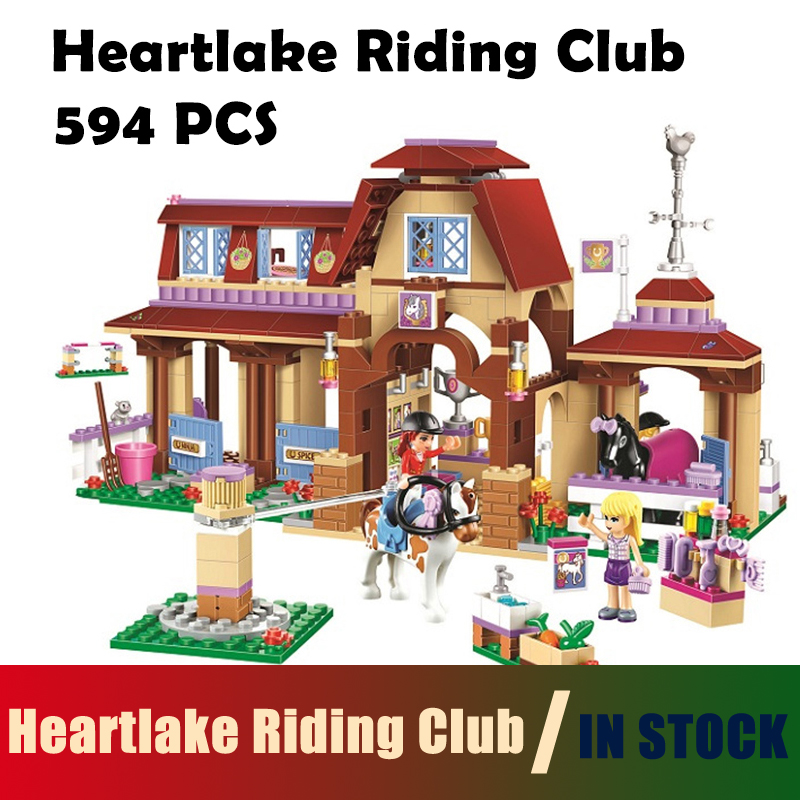 Compatible with Lego Friends Model building blocks 41126 Bela 10562 594pcs Heartlake Riding Club Figure Bricks toys for children 449pcs bela 10295 laval s fire lion model diy building blocks for children sets classic bricks toys compatible with lego