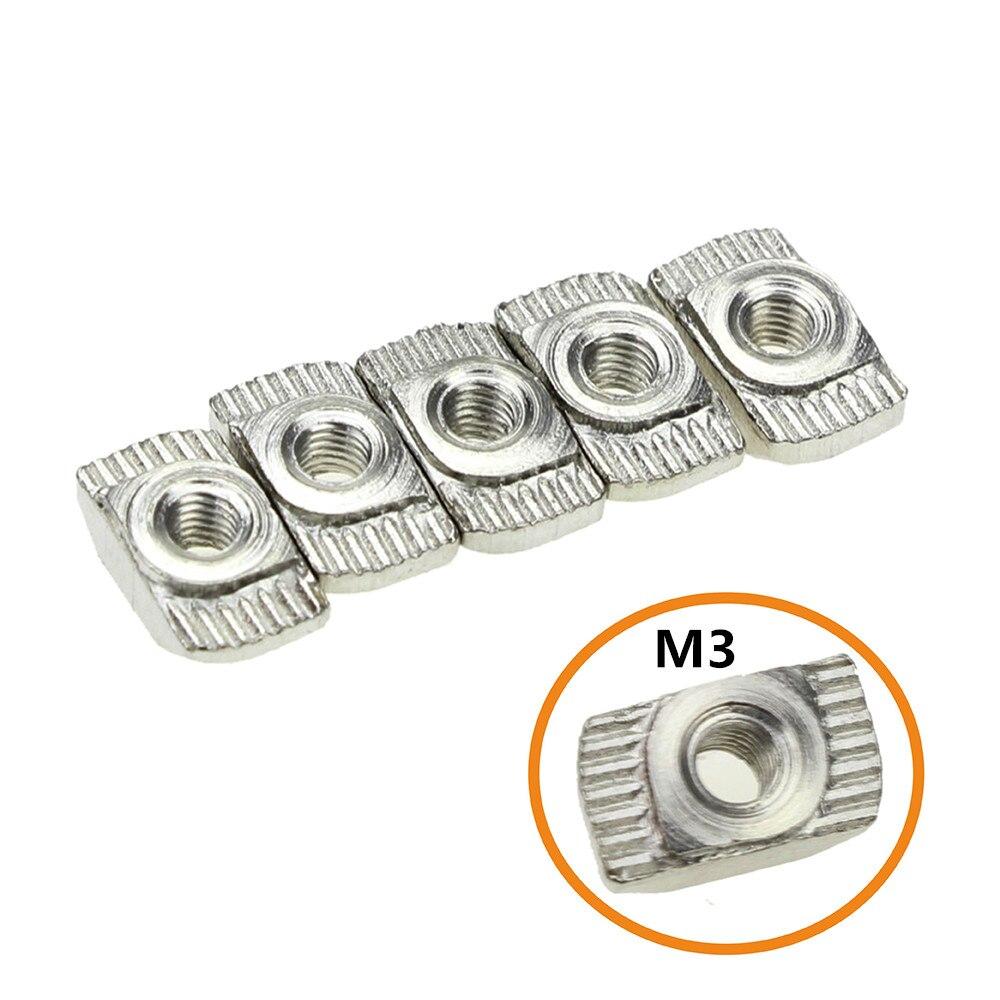 CNC Peças Da Impressora 3D M3/M4 Tipo T de Aço Carbono Nozes Prendedor Conector Para 2020 Perfil Industrial de Alumínio