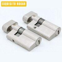Door Hardware Security 52mm Cylinder Interior Room Door Glass Clamp Lock Handle Customized Partial Key Brass