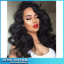 Full Lace Wigs Glueless Natural Black Full Lace Synthetic Wigs Top Quality 150 Density Body Wave