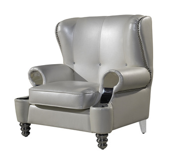 Pearly white leather French royal living room sofa hot selling genuine leather chair real leather sofa chair цена 2017