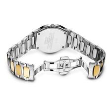 ANGELA BOS Tungsten Steel Rhinestones Waterproof Sapphire Date Quartz Watch Women Calendar Woman Watches 2017 Brand Luxury Clock