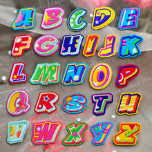 Pure white English Alphabet Letter Mixed Embroidered Iron On Patch For Clothing Badge Paste Clothes Bag Pant Sewing A-Z