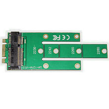 цена на NGFF M.2 B key SSD to MSATA MINI PCIE Adapter Converter Card for 22x30mm 22x42mm 22x60mm 22x80 SSD