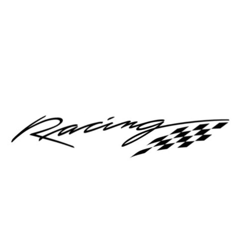 13,8 см * 2,4 см гоночный декор, Стайлинг автомобиля, Виниловая наклейка на машину, мотоцикл, S4-0172