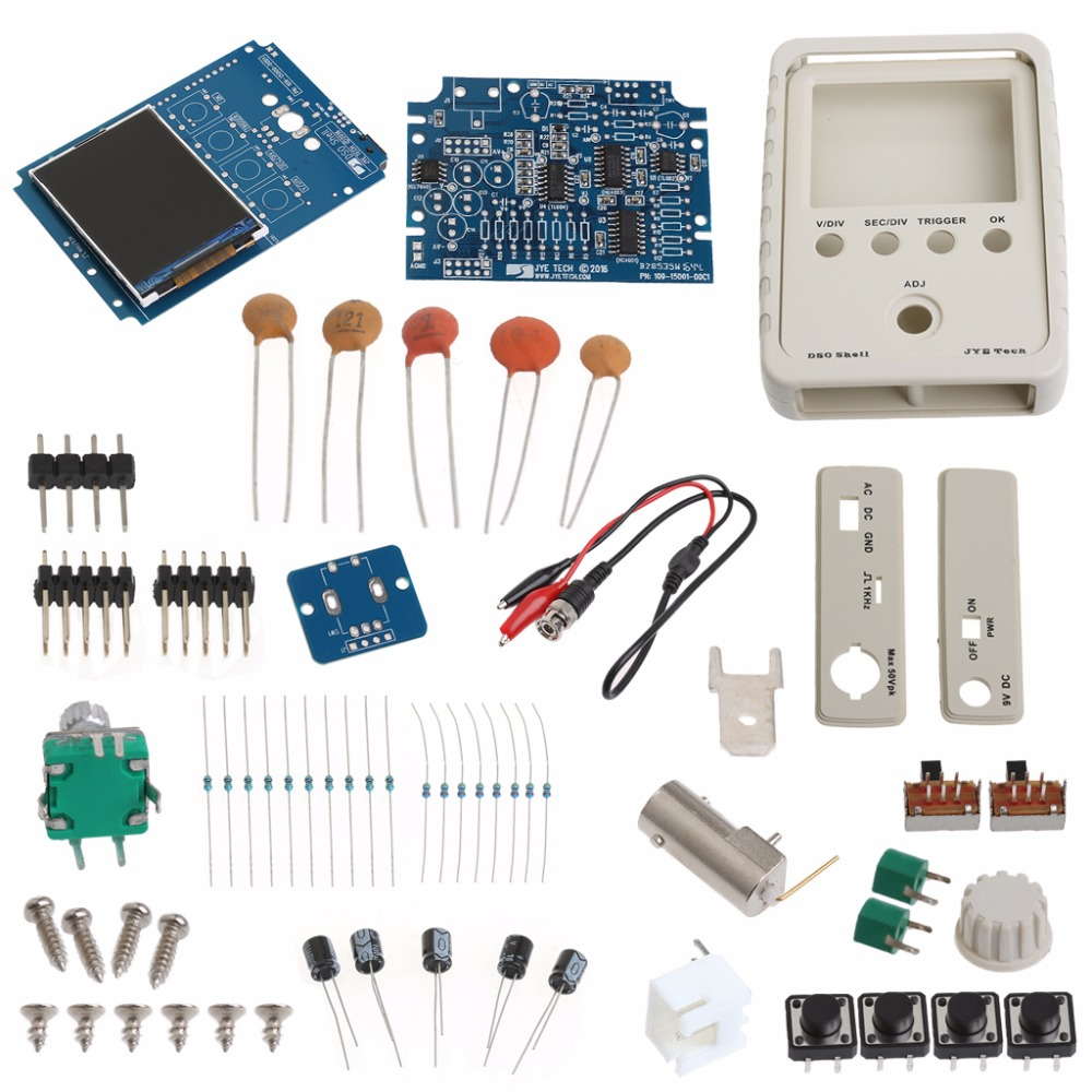 OOTDTY Mini AVR DSO150 Pocket Digital Oscilloscope Kit+USB Cable and Probe DIY Learning dso 150 2 0 lcd usb dual channel oscilloscope