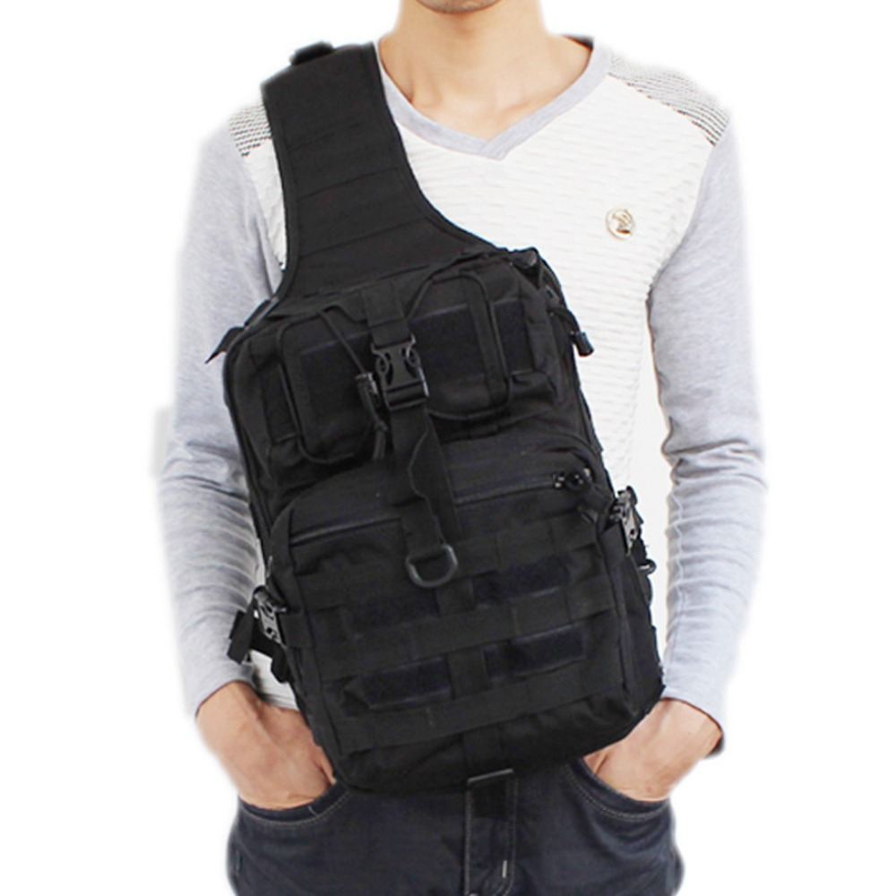 Men's Waterproof 600D Nylon Sling Chest Bag High Capacity Military Travel Cross Body Messenger Shoulder Back pack DropShipping new 2018 men nylon travel military cross body messenger shoulder back pack sling chest airborne molle pack