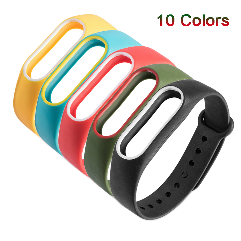 Original Silicone Wrist Strap For Xiaomi Mi Band 2 Pedometers Straps Bracelet Colorful Running Fitness Sports Accessories