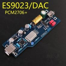 HiFi PCM2706 + ES9023 DAC Dipsiz Gürültü ses şifre çözücü Kızı Kartı DIY kiti/Montaj panosu