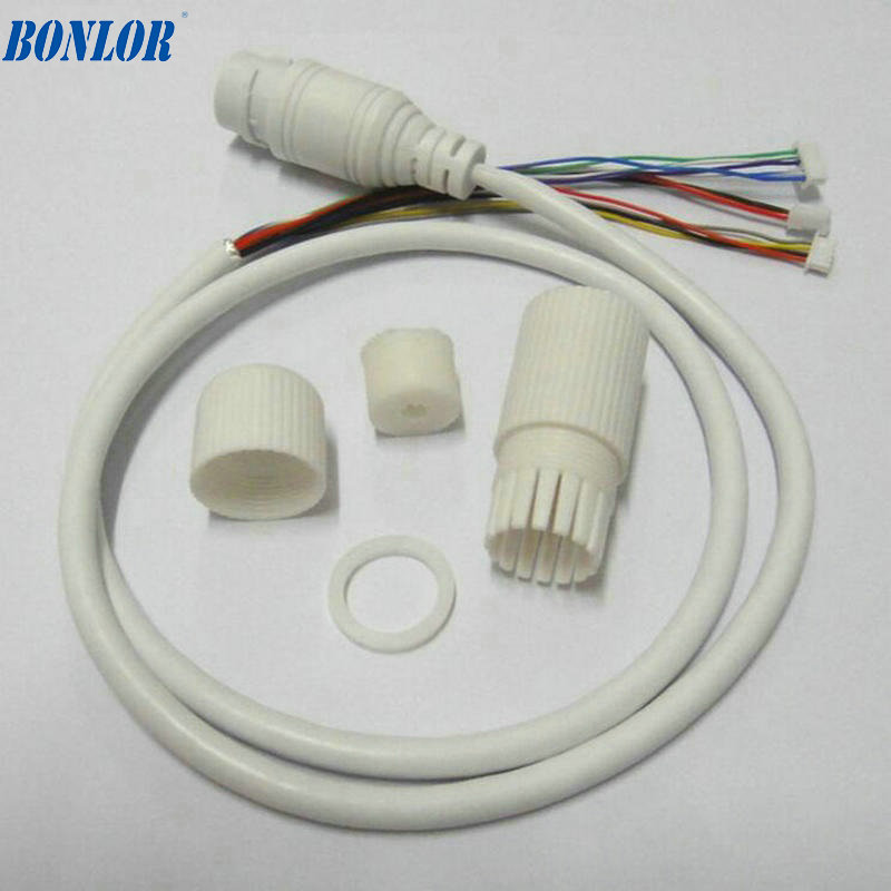 (10PCS) Waterproof POE LAN Cable For CCTV IP Camera Board Module With Weatherproof Connector, Single Status LED Free Shipping