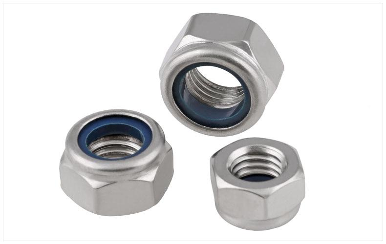 DIN985 304/316 stainless steel M2 M2.5 M3 M4 M5 M6 M8 M10 M12 M14 M16 M18 M20 nut locknut anti slip self-locking nut locking cap promotions lock nut self locking anti off 22 53456810