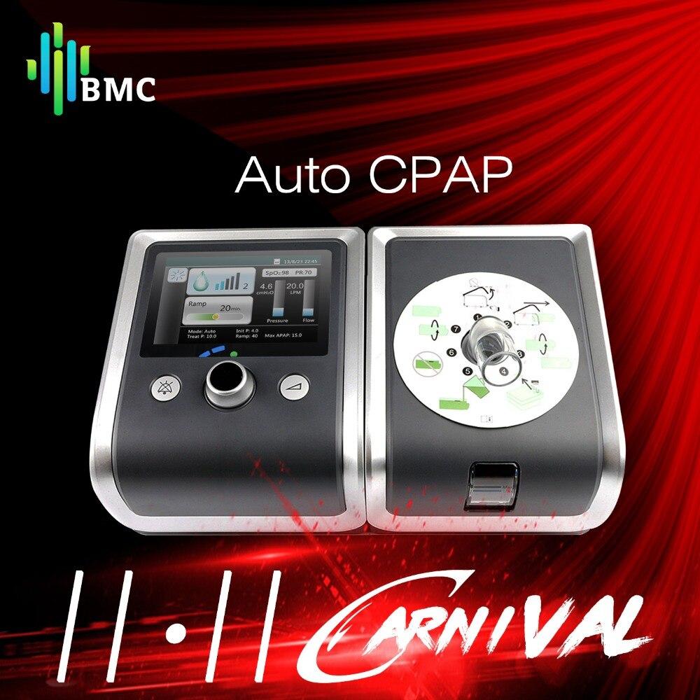BMC GII Auto CPAP Machine E-20A Matériel Médical pour L'apnée Du Sommeil Anti Ronflement Ventilateur Vibrateur avec Humidificateur CPAP Masque