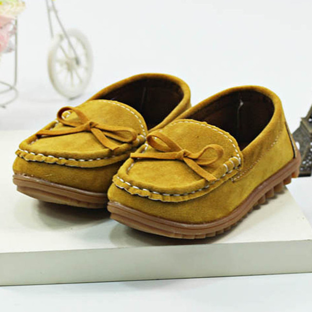 2017 Autumn Kids Casual Shoes Slip on Children's Flats Shoes Bow Tie Creepers Toddler Boys Girls Sneakers Baby Moccasins