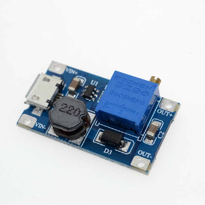 MT3608 DC-DC Einstellbar Boost Modul 2A Boost Platte 2A Schritt Bis Modul mit MICRO USB 2 V-24 V zu 5V 9V 12V 28V LM2577
