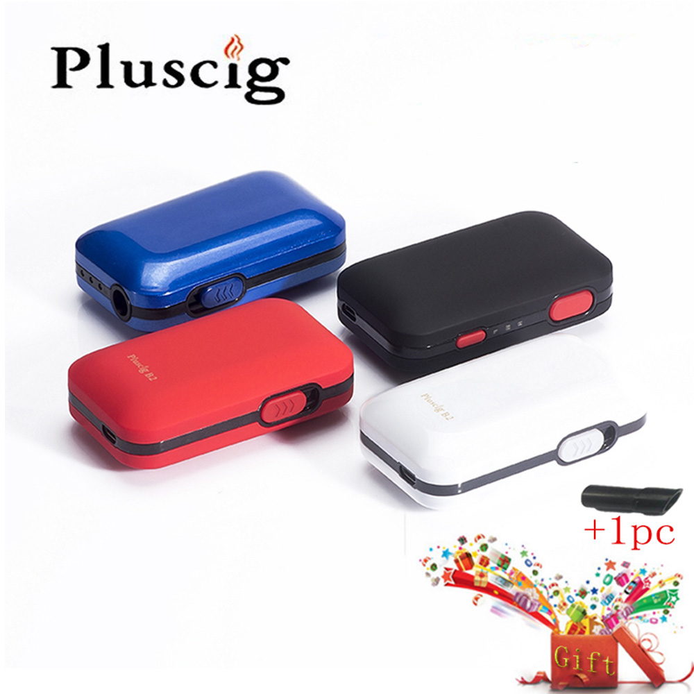 SMY Pluscig B2 Temperature Control Vibration 2200mAh E Cigarette Battery Box Mod Dry Herb Vaporizer Fit iqos Tobacco Cartridge newest and hotest product e cig vapor mod god 180s with 220w box mod dry herb smy god 180s mod