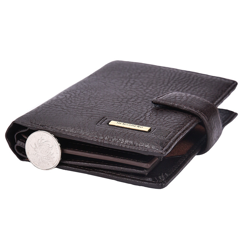 2017 varumärke Hengsheng manens plånbok högkvalitets hasp - Plånböcker - Foto 5