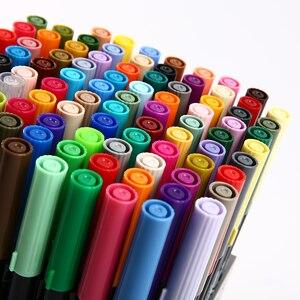Image 1 - اليابان TOMBOW AB T الخط التوأم فرشاة فنية القلم مهنة المياه قلم تحديد للكتابة اليدوية حروف رصاصة بطاقة صنع