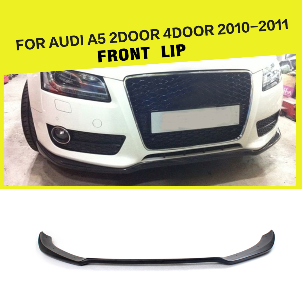 FRP Unpainted Racing Front Lip Spoiler Apron Car-Styling For Audi A5 Standard Bumper Only 2010-2011