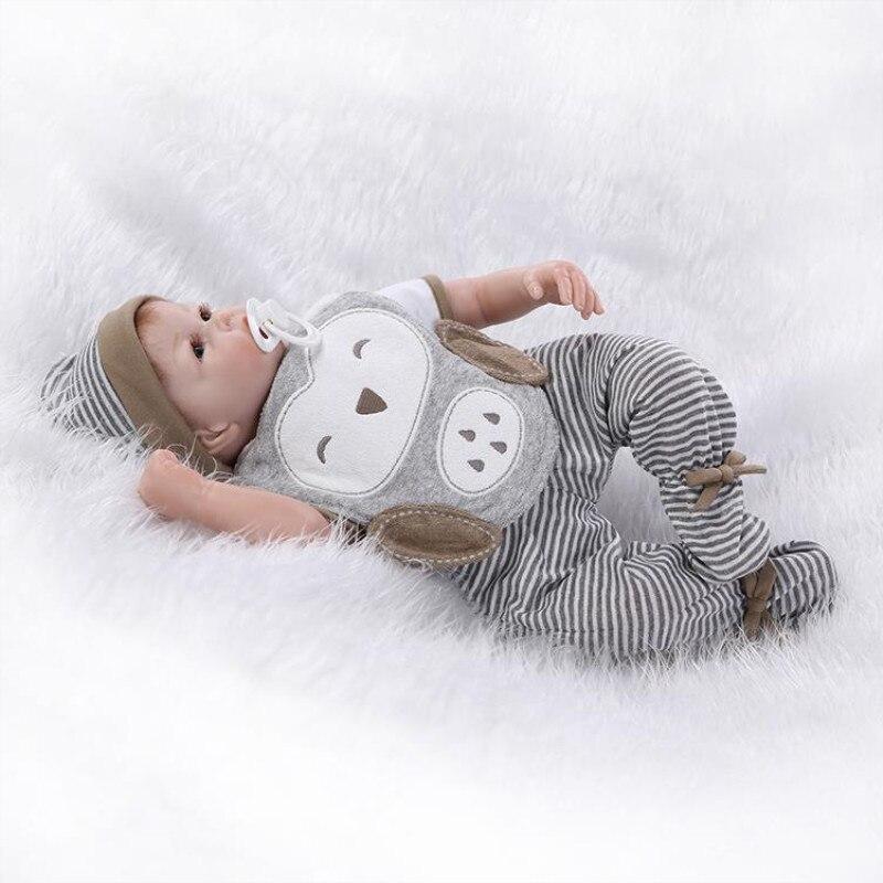 Européen et américain populaire silicone-reborn-bébé-poupées simulation bébé poupée mignon réaliste jouet maison de poupée