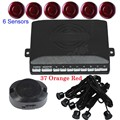 best selling Car Reverse Radar Parking Sensor 6 Snesors 44 Colors fro choice backup auto vehicle sound alert buzzer