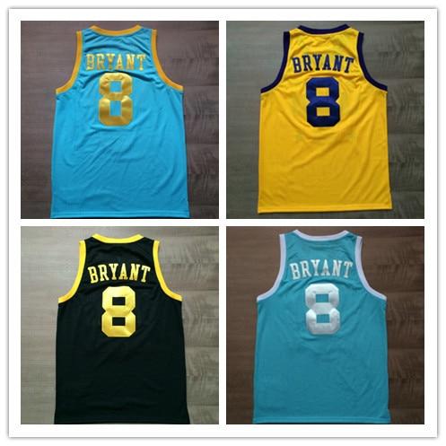 818454513c2 Minneapolis 8 Kobe Bryant Jersey MPLS Yellow purple Black Light Blue White  Throwback Kobe Bryant Basketball Jersey