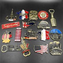 Venetië Magneet Metalen 3D Koelkast Sticker Magneet Souvenir Berlijn Kasteel Brazilië Jezus Keuken Magneet Sticker Home Decor