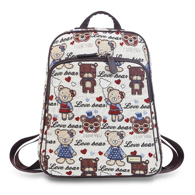 Aliexpress.com : Buy Danny Teddy Bear Printing Girls Cute School ...