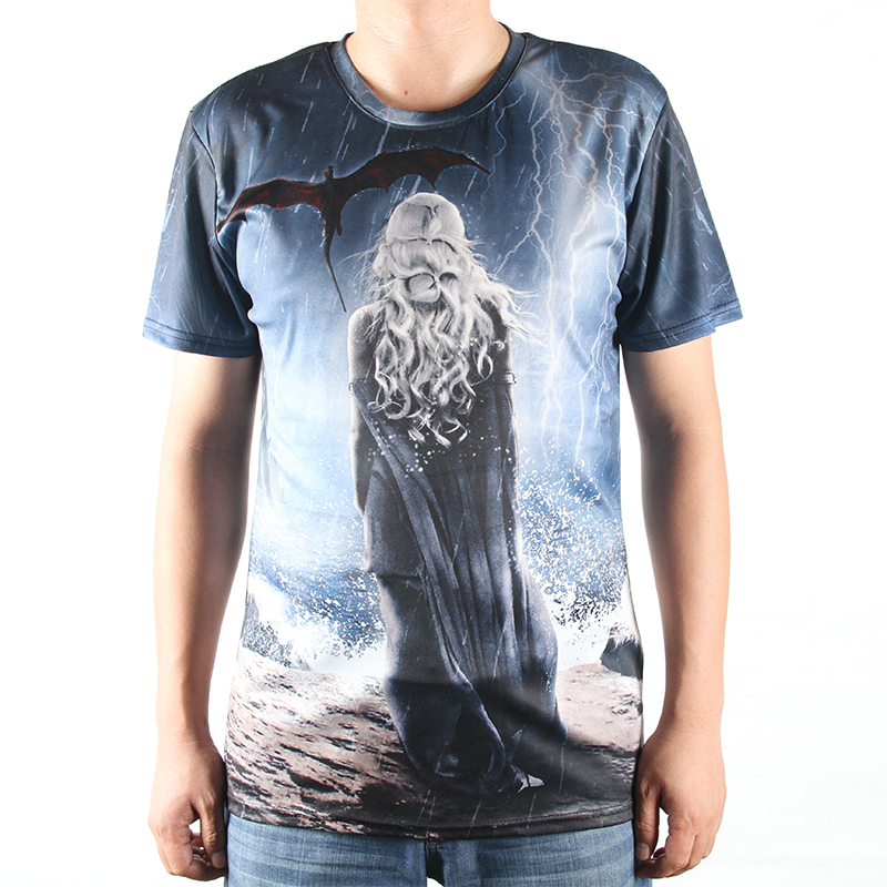 Game App Design Home: Fashion New T Shirts Game Of Thrones 3D Tshirts Men O Neck