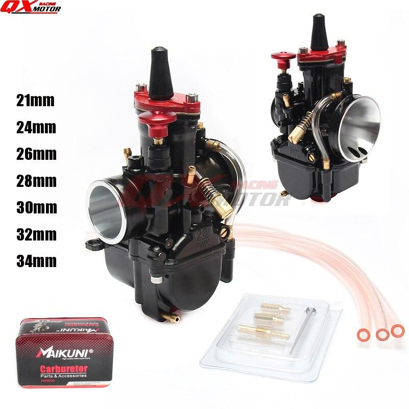 Di alta Qualità MAIKUNI 21 24 26 28 30 32 34mm PWK carburatore carb universale 2 t 4 t motore motorino del motociclo UTV ATV Dirt Bike CUB
