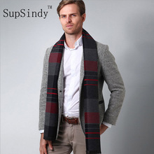 Men Scarf 2017 Autumn Winter Vintage Soft Plaid Scarf Men's Imitation Cashmere Scarf High Quality Brand Business Casual Scarfs