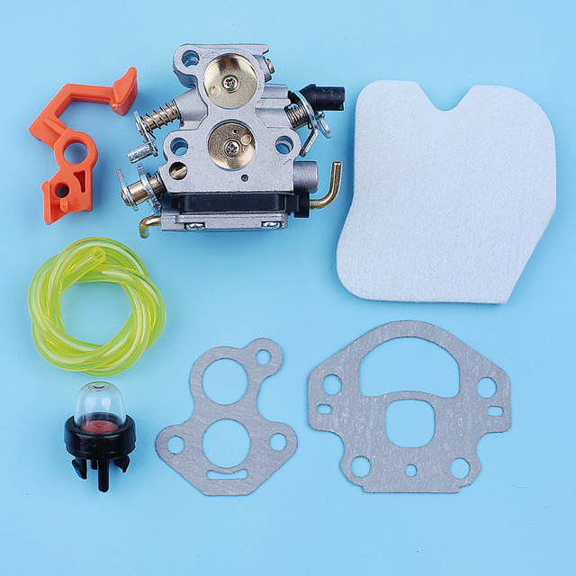 Carburetor Carb Air Filter Primer Bulb Fuel Line Kit For McCulloch CS380 CS340 CS 340 380 Chainsaw Switch Lever Replacement Part