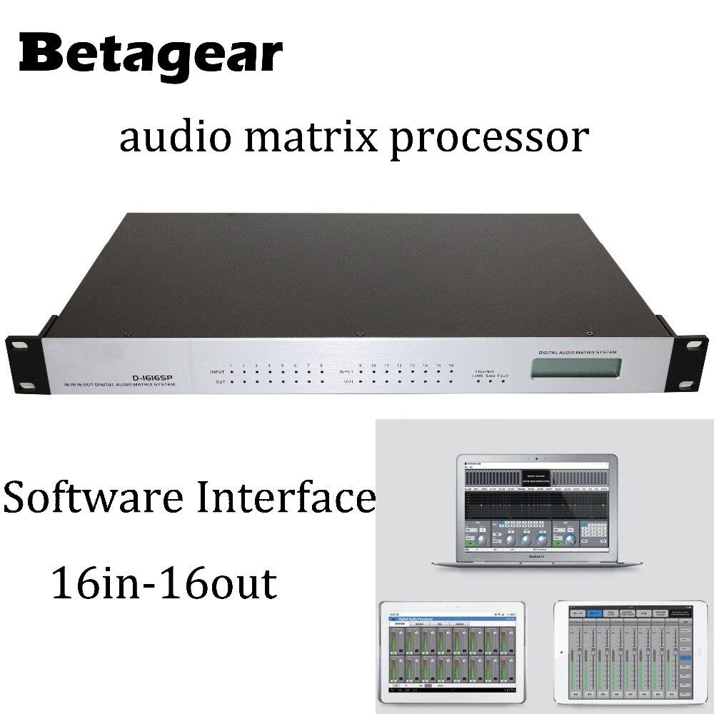 Processeur de matrice Audio numérique Betagear processeur de Signal numérique DSP 16X16 DSP 100-240 Volts processeur de son numérique à matrice DSP