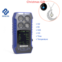 6 In 1 Gas Leak Detector Oxygen O2 Hydrothion H2S Carbon Monoxide CO Combustible Gas Temperature