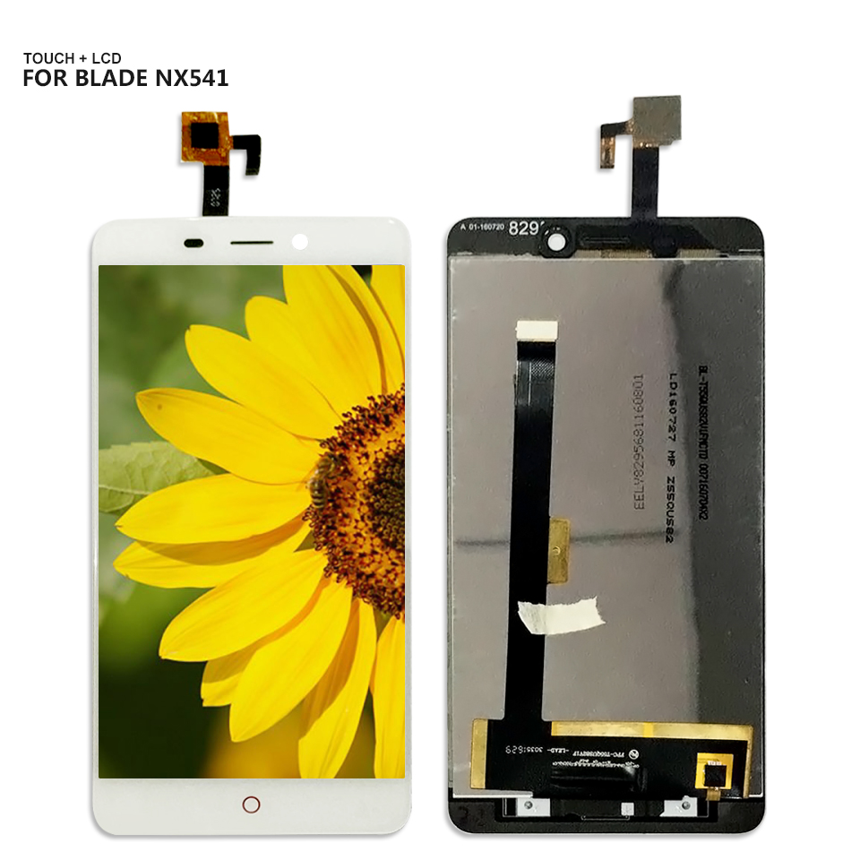 Free Shipping 5.0'' For ZTE Nubia N1 NX541J Digitizer Touch Screen 1920x1080 Lcd Display Assembly Repair Part Black Color