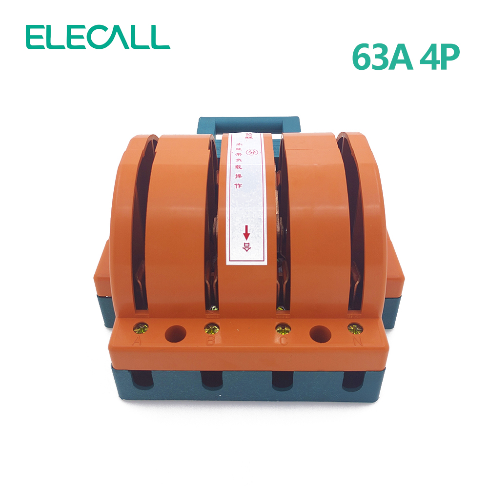 ФОТО Wholesale  Heavy Duty  63A Four Poles Double Throw Knife Disconnect Switch Delivered Safety Knife Blade Switches