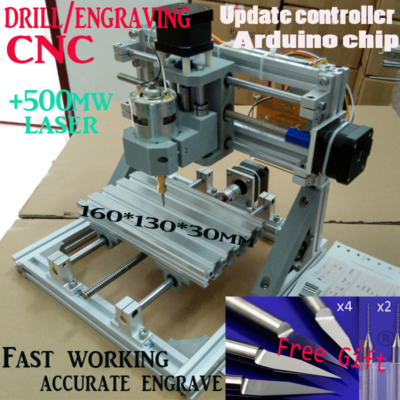 DiyCNC engraving machine+500mw,working area 160*100*30cm,PCB Milling Machine CNC Wood Carving Mini Engraving router,support ER11 1610 mini cnc machine working area 16x10x3cm 3 axis pcb milling machine wood router cnc router for engraving machine
