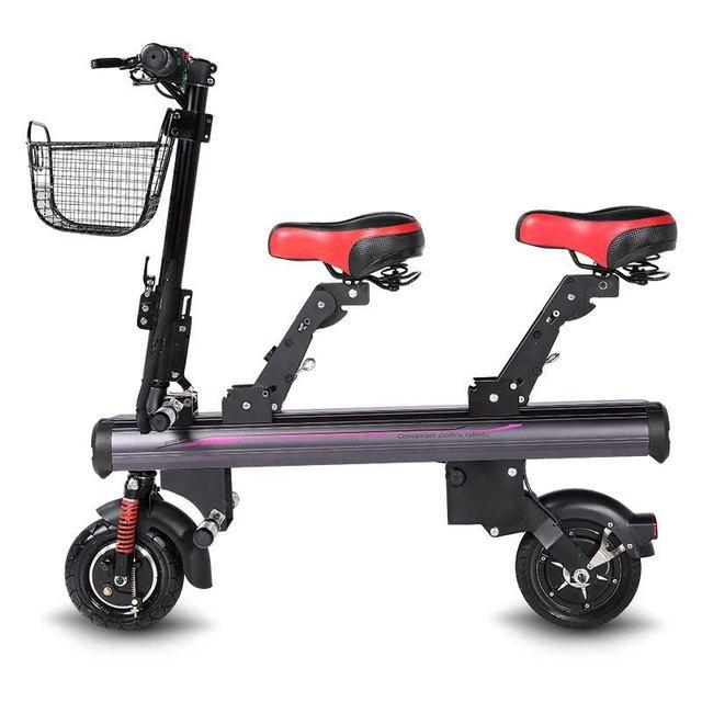 Zhengbu K1 foldable family 8 inch electric scooter, adult folding e-scooter mini rarent-child bike