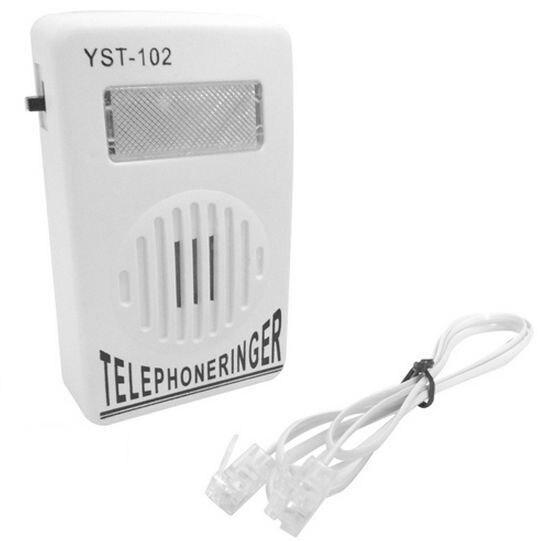 Il trasporto Libero di Un RJ11 linea telefonica + Nuovo Extra Forte Del Telefono Telefono Ringer fino a 95dB w/ Strobe luce Lampeggiatore Campanaro