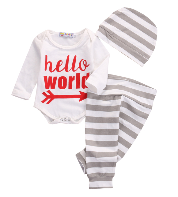 ab004c870ef4 3Pcs Newborn infant toddler Baby Boy Girl Clothes long sleeve ...