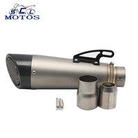 SCL Moto s 60 или 51 или 48 мм изменение Moto rcycle глушитель труб Moto Escape YZF R1 r6 mt07 MT09 z250 ninja250 GSR750 S1000RR