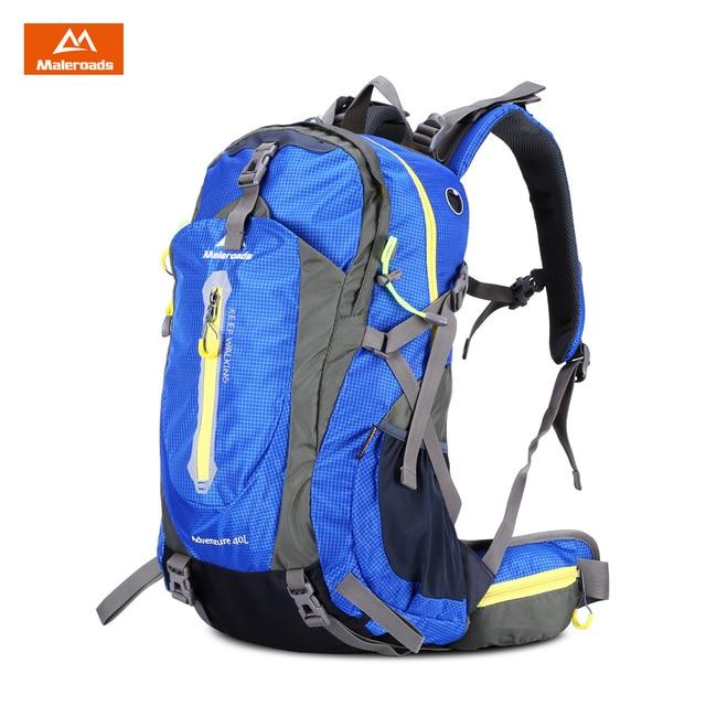 Maleroads 40L Outdoor Sports Bag Hiking Camping Backpack Water Resistant  Nylon Bike Rucksack Bag 3 Colors 2018 New 00fefe58b90af