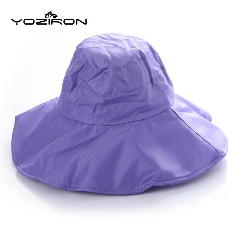 Top Grade New Men Women Multifunction Solid Summer Sun Hat Sunshade Waterproof Foldable Sunhat Wide Brim Fishing Cap Hiking Caps