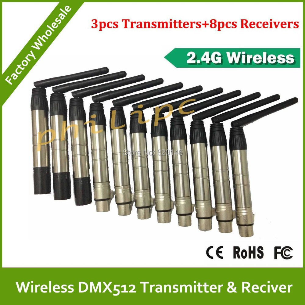 Free Shipping 2.4G Wireless DMX512 Transceiver Kit For Stage Lighting Control System Wireless DMX 512 Transmitter And ReceiverFree Shipping 2.4G Wireless DMX512 Transceiver Kit For Stage Lighting Control System Wireless DMX 512 Transmitter And Receiver