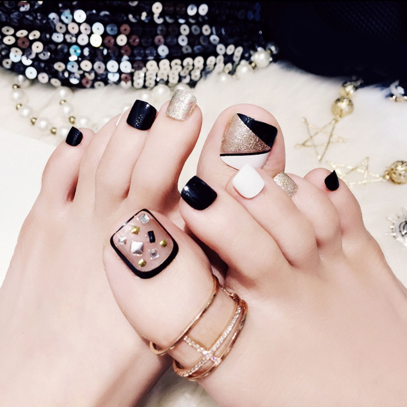 24Pcs Fake False Foot Nails Toenails Nail Art Tools Novel Style Holiday Gift J60-in False Nails from Beauty & Health on Aliexpress.com   Alibaba Group
