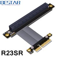 Riser PCI E 4x Male To PCIe 16x Female PCI Express Graphics Card Extension Riser Cable