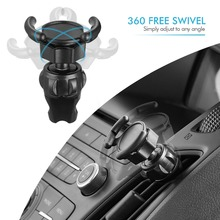 JXSFLYE Car Mount Clip Air Outlet 360 Degrees Rotation Portable Cross-shaped Airbag Bracket  phone Accessories holder