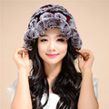 Discount 2016 New Fashion the new autumn and winter rex rabbit fur grass lady cap warm winter hat wool cap/12 color TM29