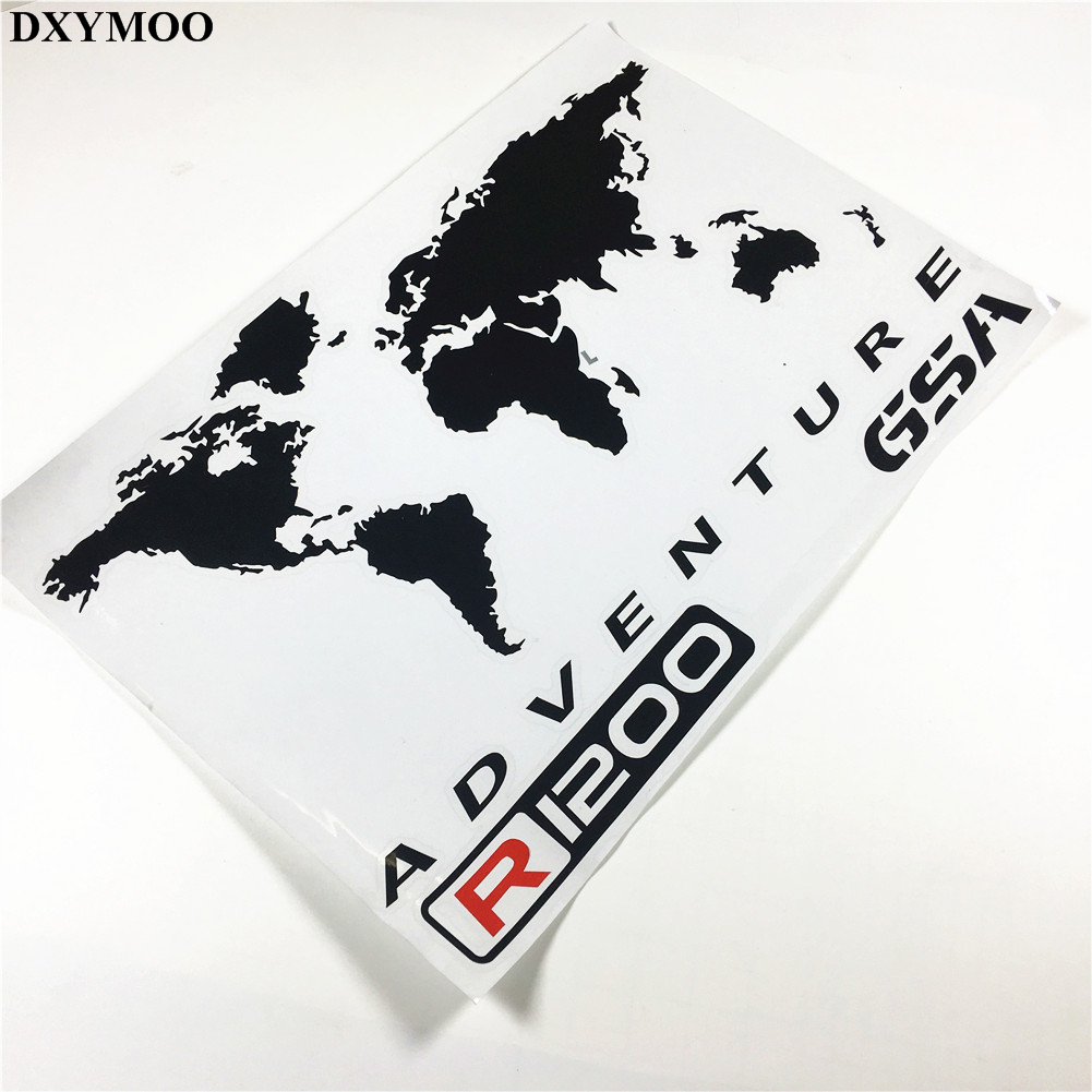 1 Pair Motorcycle Motor Side Box Car Stickers for R1200GS F800GS TOURATECH GSA ADV ADVENTURE Black